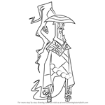 How to Draw The Sorcerer Ancient Form from Randy Cunningham - 9th Grade Ninja