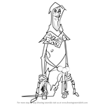 How to Draw The Sorcerer v2 from Randy Cunningham - 9th Grade Ninja