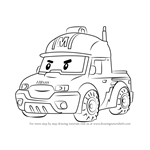 How to Draw Mark from Robocar Poli