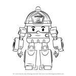 How to Draw Roy from Robocar Poli