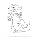How to Draw Reptar from Rugrats