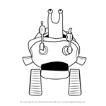 How to Draw RoboSnail from Rugrats
