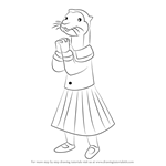 How to Draw Ottoline the Otter from Rupert