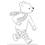 How to Draw Rupert the Bear from Rupert