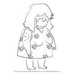 How to Draw Brenda Dickson from Sanjay and Craig