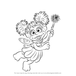 How to Draw Abby Cadabby from Sesame Street