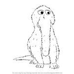 How to Draw Mr. Snuffleupagus from Sesame Street