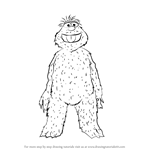 How to Draw Murray Monster from Sesame Street