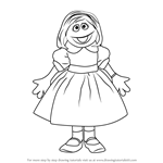 How to Draw Prairie Dawn from Sesame Street