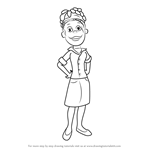 How to Draw Alice from Sid the Science Kid