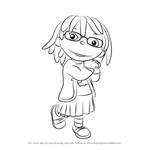 How to Draw May from Sid the Science Kid