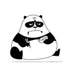 How to Draw Panda from Skunk Fu!