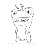 How to Draw Butch from Slugterra