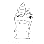 How to Draw Dirt Urchin from Slugterra