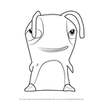 How to Draw Flopper from Slugterra