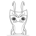 How to Draw Grimmstone from Slugterra