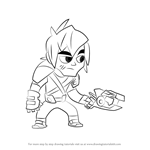 How to Draw Lil Stevie from Slugterra