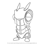 How to Draw Roboslug from Slugterra