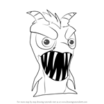 How to Draw Smugglet from Slugterra