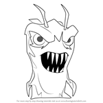 How to Draw Terrarix from Slugterra