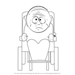 How to Draw Grandpa Marvin Marsh from South Park