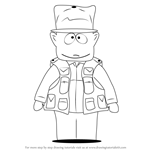 How to Draw Jimbo Kern from South Park