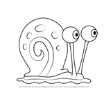 How to Draw Gary the Snail from SpongeBob SquarePants