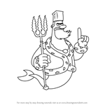How to Draw King Neptune from SpongeBob SquarePants
