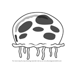 How to Draw Queen Jellyfish from SpongeBob SquarePants