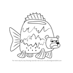 How to Draw Sea Bear from SpongeBob SquarePants