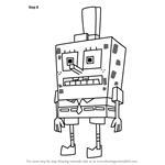 How to Draw SpongeTron from SpongeBob SquarePants