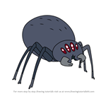 How to Draw Giant spider from Star vs the Forces of Evil