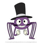 How to Draw Spider With a Top Hat from Star vs the Forces of Evil
