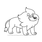 How to Draw Lion from Steven Universe