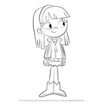 How to Draw Amy Anderson from Supernoobs