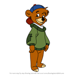 How to Draw Kit Cloudkicker from TaleSpin