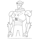 How to Draw Brother Blood from Teen Titans