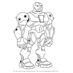 How to Draw Cyborg from Teen Titans