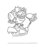 How to Draw The Turbo-Toilet 2000 from The Adventures of Captain Underpants