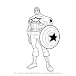 How to Draw Captain America from The Avengers - Earth's Mightiest Heroes!