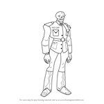 How to Draw Red Skull from The Avengers - Earth's Mightiest Heroes!