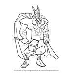 How to Draw Thor from The Avengers - Earth's Mightiest Heroes!
