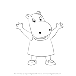 How to Draw Tasha from The Backyardigans