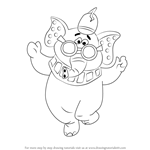How to Draw Snorky from The Banana Splits