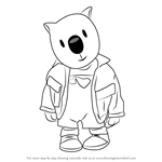 How to Draw Ned from The Koala Brothers