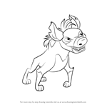 How to Draw Cheezi from The Lion Guard