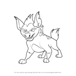 How to Draw Janja from The Lion Guard