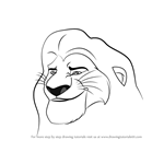 How to Draw Mufasa from The Lion Guard