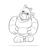 How to Draw Little Bo from The Roly Mo Show