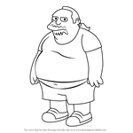 How to Draw Comic Book Guy from The Simpsons